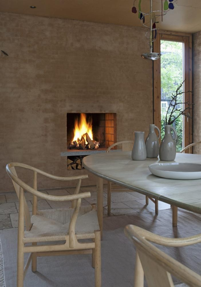 #architecture #oslo #Knut Hjeltnes #fireplace #dining #grey #beige