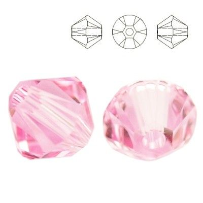 5328 Bicone 6mm Light Rose 10 pieces  Dimensions: 6,0mm Colour: Light Rose 1 package = 10 pieces