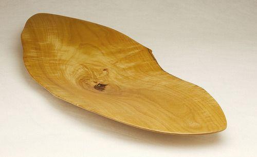 Fine platter form in Australian White Bean by designer Bob Gilmour.