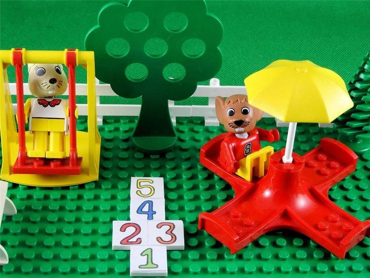 Vintage 1987 Lego Fabuland Set 3659 PLAYGROUND - with extras & a few substitutes
