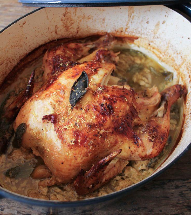 The Best Roast Chicken Ever aka Jamie Oliver's Chicken in Milk