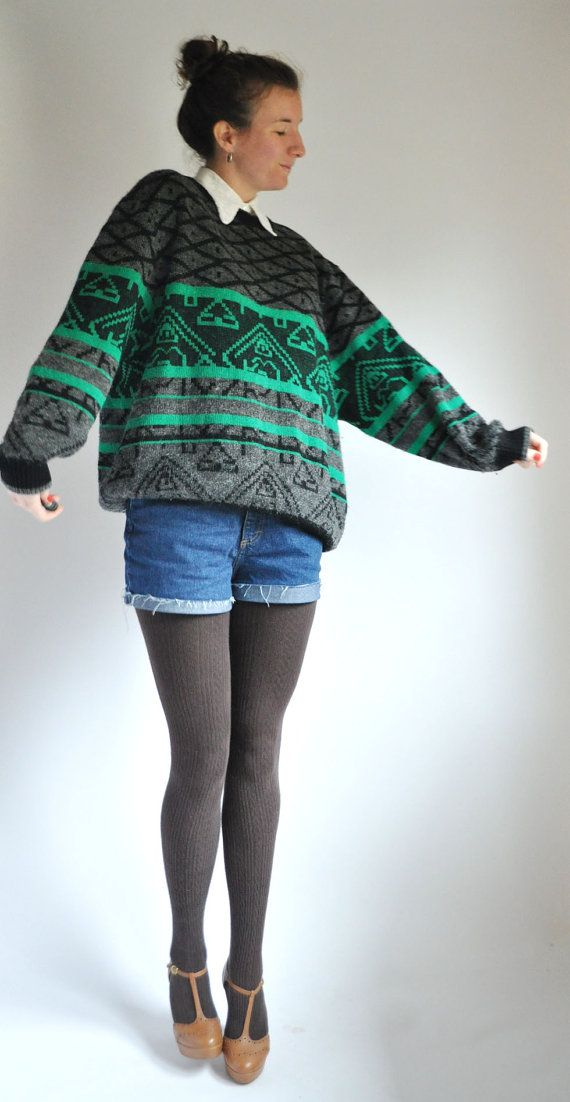 Glittery green vintage sweater
