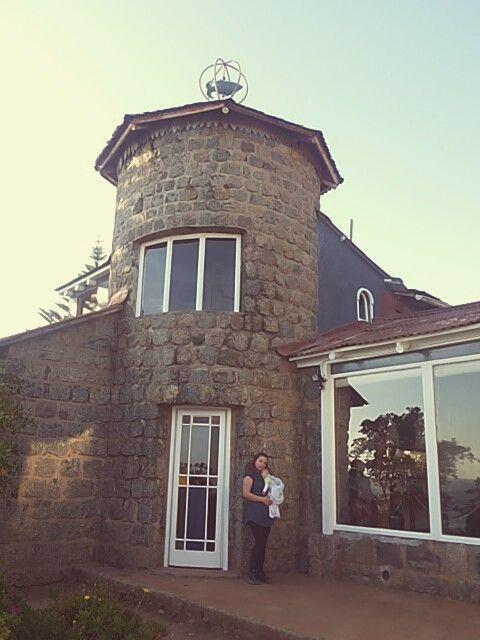La casa dá hacia la playa, con una vista completa del Quisco.
