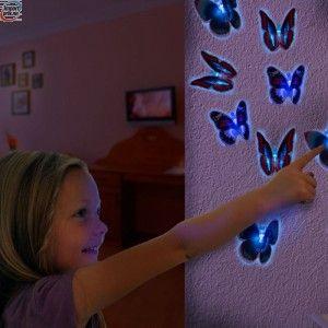 Sommerfugler med LED lys