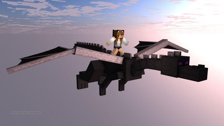 Kitty_jewel Rides a Ender Dragon on minecraft!!
