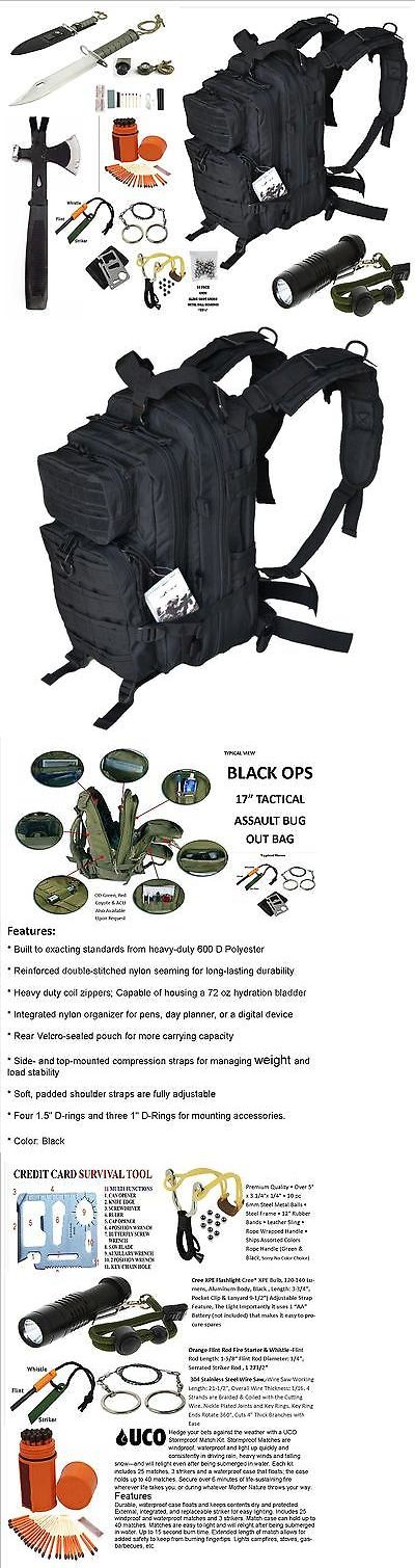 Other Emergency Gear 181415: Black Ops Survival Gear Bug Out Backpack Survival Hatchet And Survival Essentials -> BUY IT NOW ONLY: $139.95 on eBay!