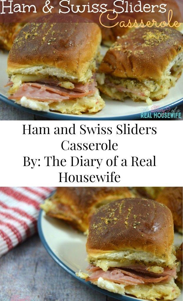 Ham and Swiss Sliders Casserole