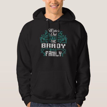 The BRADY Family. Gift Birthday Hoodie - #customize create your own personalize diy