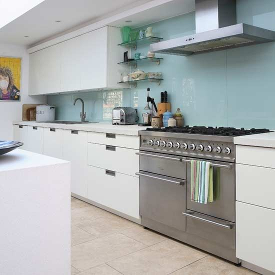 Contemporary glass splashback kitchen | Kitchens | Kitchen ideas | Image | Housetohome