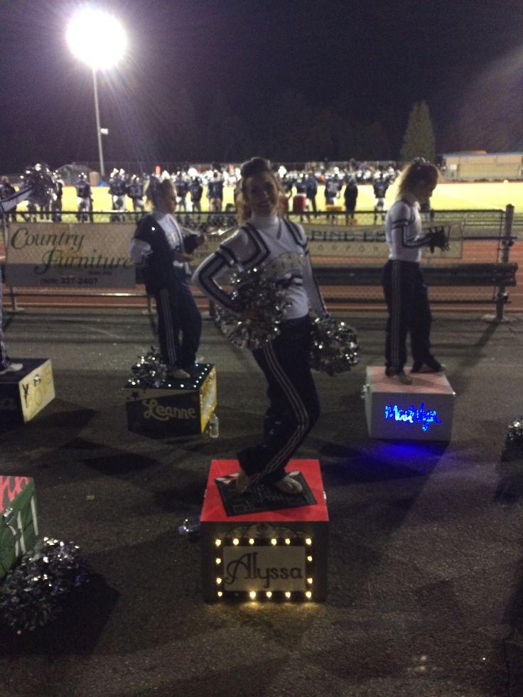High school cheer, cheerleader, cheer box, cheer captain, high school football