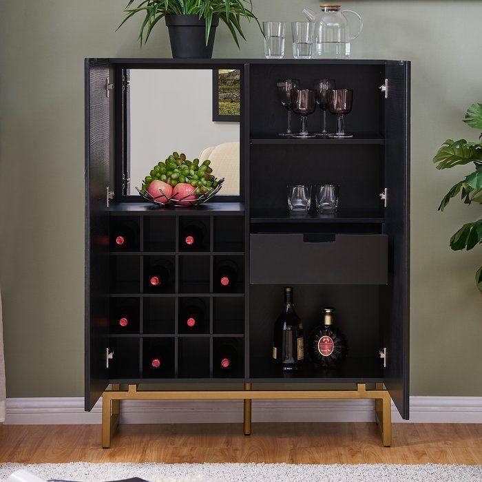 Hursey Anywhere Bar Cabinet Bar Cabinet Cabinet Wrought Studio