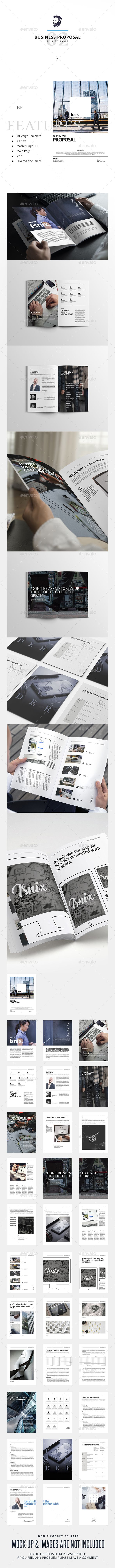 Business Proposal — InDesign INDD #clean proposal clean style #indd buisness proposal • Download ➝ https://graphicriver.net/item/business-proposal/19359813?ref=pxcr