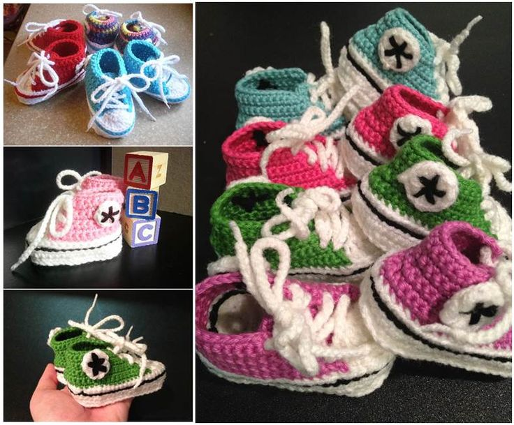 How to DIY Adorable Crochet Baby Converse Booties | iCreativeIdeas.com Follow Us on Facebook --> https://www.facebook.com/icreativeideas