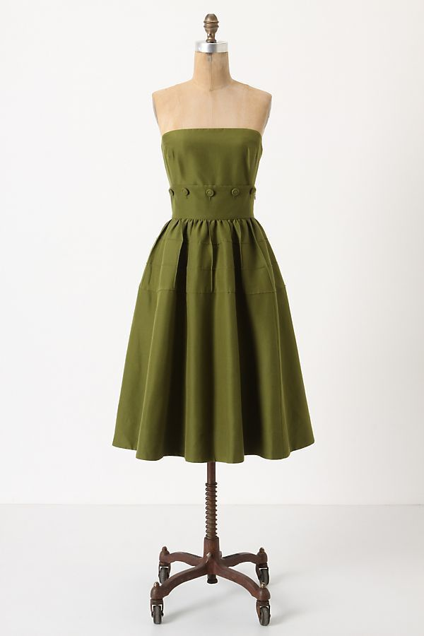 a202fd82204d1 Anthropologie Maeve Womens Belted Button Green Dress Size 2 #Anthropologie