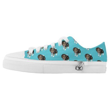 #Custom Light Blue Beagle Puppy Low-Top Sneakers - #womens #shoes #womensshoes #custom #cool