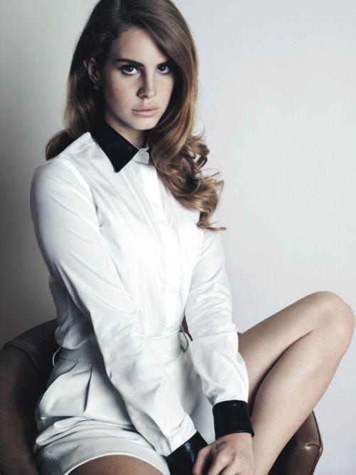 Lana Del ReyMusic, Lanadelrey, Girls Crushes, Lana Del Rey, Hair Colors, Videos Games, White Shirts, Born To Die, Woolen Ray