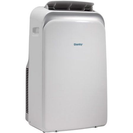 Danby DPA120HB1WDB 12,000-BTU Room Portable Air Conditioner with Dehumidifier and Supplemental 11,000-BTU Heater w/Remote Control, White