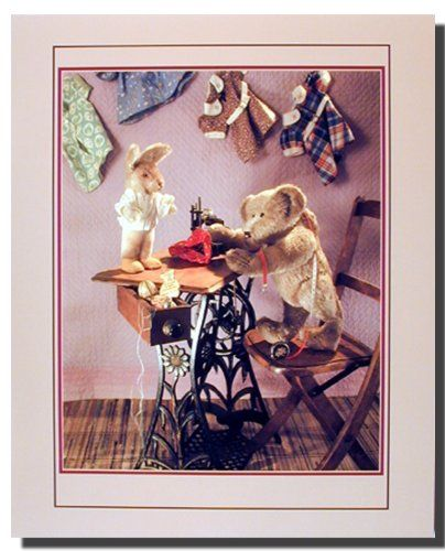 Add some fun factor to your kids' bedroom with this antique teddy bear with sewing machine home decor art print poster. This charming poster will add a pleasant pattern to any wall in your home. This teddy poster will surely give a warm touch into your home interiors. It will be a great addition for any home decor and ensures high quality with perfect color accuracy. Enjoy your surroundings.