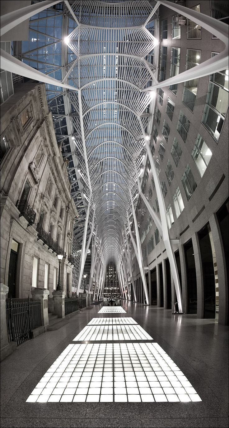 BCE Place. Toronto. Most beautiful building corridor/arcade in the Financial District.