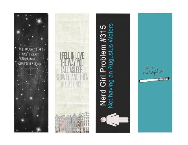 The Fault in Our Stars Bookmarks