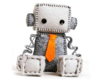 Anti San Valentín Robot triste peluche con un por GinnyPenny