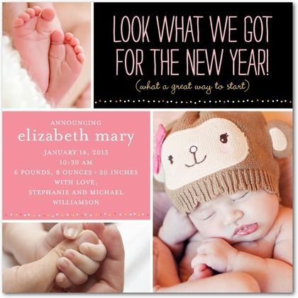 56 best Baby Announcements images – When to Send Baby Announcements