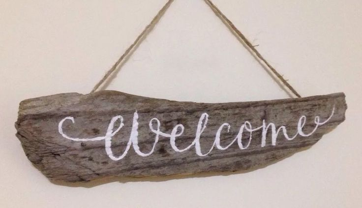 New Home Housewarming Gift Hand Painted Driftwood Sign Welcome | eBay                                                                                                                                                                                 More