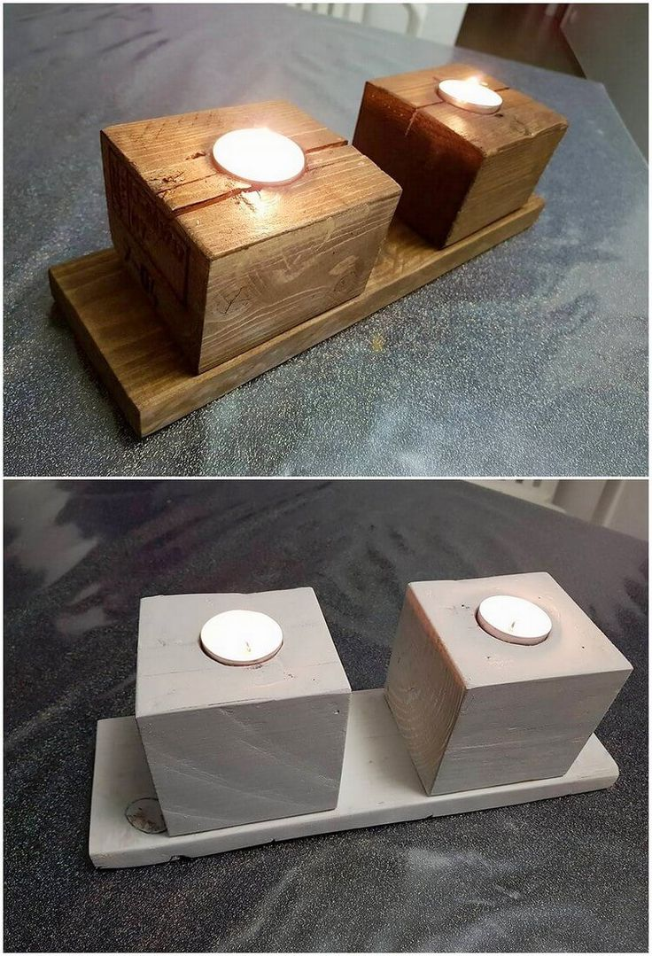 This image would be making you bring out the option of the classy and much attractive designed wood pallet candle stand which you would love to add up in your house. This candle holder/stand has been compact in sizing that seems to be light in weight and you can beautifully make it use as the decoration piece.
