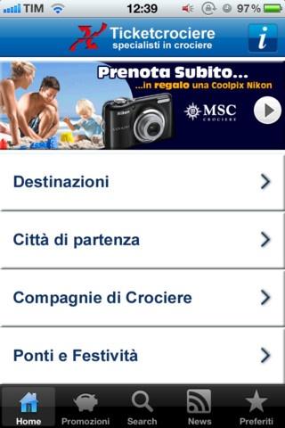 Ticketcrociere, già leader in italia nella vendita online di crociere, ha realizzato la prima applicazione per iPhone e iPad, che consente la prenotazione diretta di crociere. Si tratta della nuova versione 2.0, che rappresenta una novità assoluta nel settore, perchè per la prima volta è possibile arrivare in modo automatico fino alla reale prenotazione di una Crociera, ma anche semplicemente opzionarla per un giorno.  http://itunes.apple.com/it/app/ticketcrociere/id429929286?mt=8=1507406