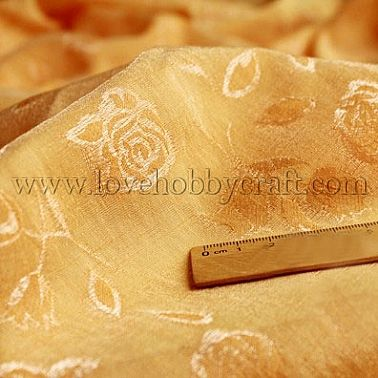 gold thread rose fabric goldenrod satin