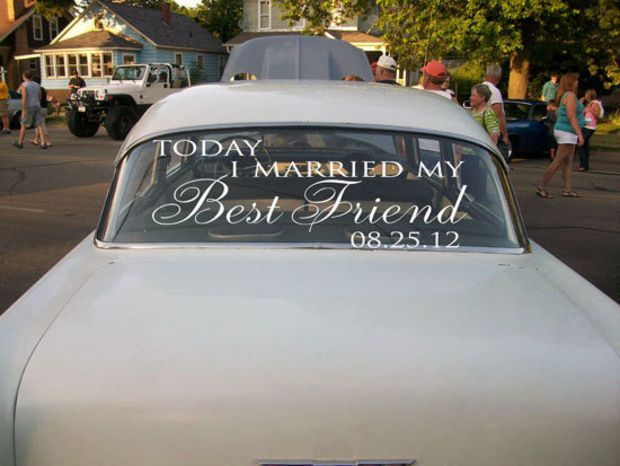 43 best wedding decals images on pinterest vinyls fresh rolls and wedding getaway car decals today i married my best friend junglespirit Image collections