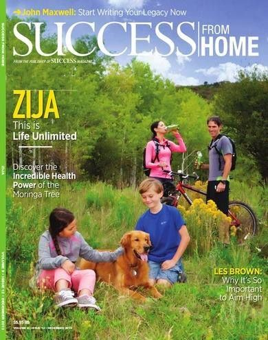 Zija will be FEATURED in SUCCESS from Home Magazine in December!  Need More Validation??? Zija & Moringa have it! National Geographic, CNN, Dr Oz, Discovery Channel, The View, and the NY Times! Just to name a FEW! And NOW Success Magazine coming this December!  Zija is On The Rise~Word is Spreading Across the World Zija products give you more absorbance of this amazing Moringa Tree than any other product out there!  Zija IS THE Moringa Company! Drink Life In!!!