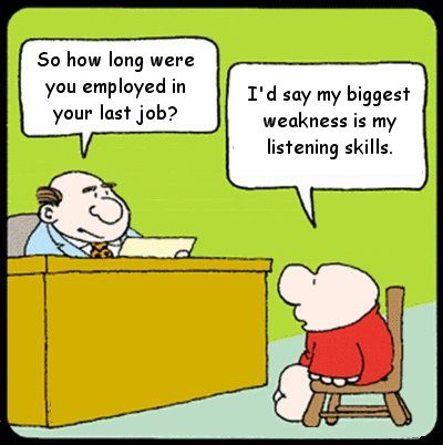 Funny listening skills job interview
