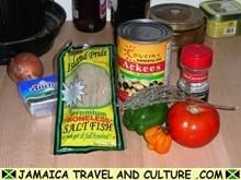 I am half Jamaican and just love  Jamaican food. The national dish, Ackee and Saltfish, is my all time favorite meal to eat and make. But I like to add a twist to the recipe. Put about 4 rashes of cut up bacon into the pan before the onions. Trust me, this will transform the dish.