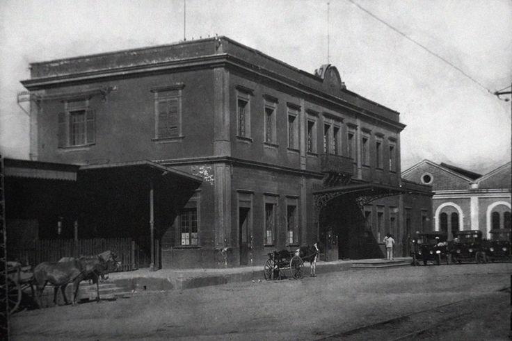 Estação da Estrada de Ferro Sorocabana – Foto de Pedro Neves do Santos, 1924.