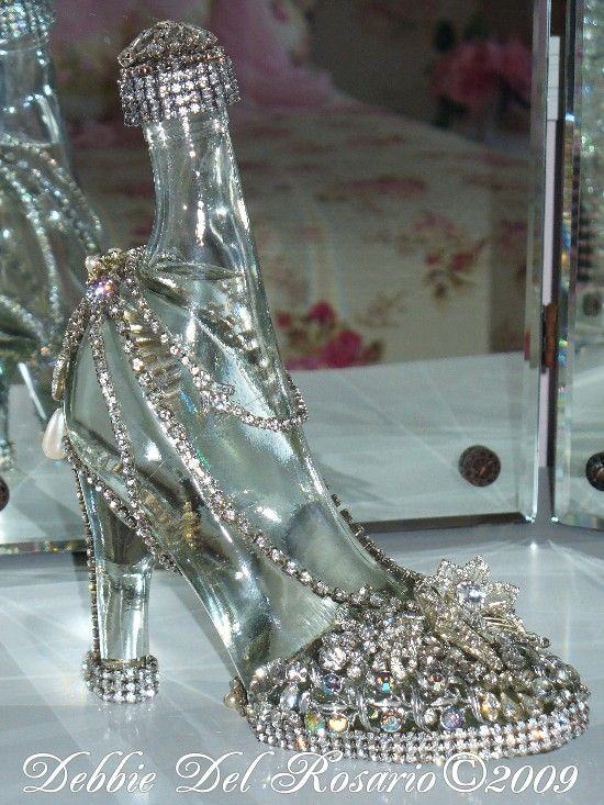 Beautiful High Heel Jeweled Shoe Showpiece Silver-Vintage, Shoe, Rhinestones, Crystals, Elegant, Victorian, Chic, Paris, Rhinestones, Sparkle, Shimmer, Glam, Glitz,