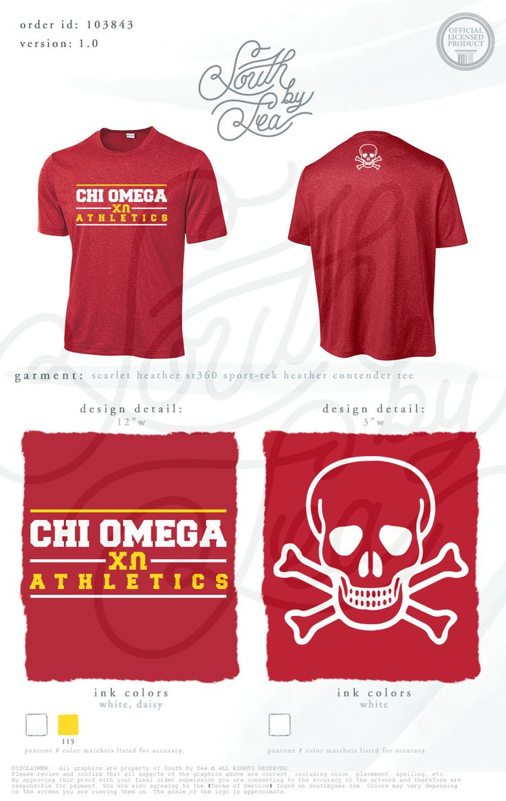 Chi Omega | Chi O | Athletics | Skull and Crossbones Design | Intramural Shirt…