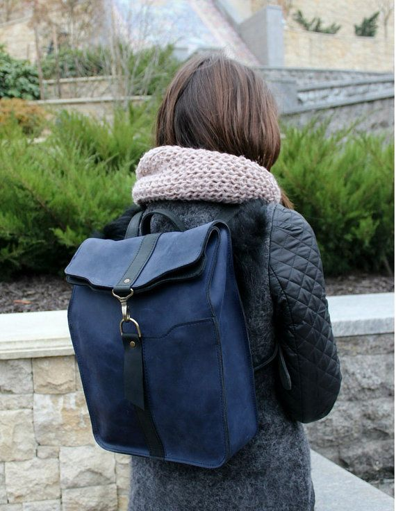 Genuine Leather Backpack. Designer by ClassyWallets on Etsy