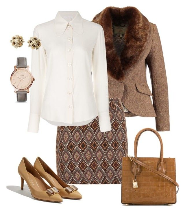 """""""Untitled#168"""" by bidlekerika on Polyvore featuring Tom Joule, MICHAEL Michael Kors, Chloé, FOSSIL and Chanel"""