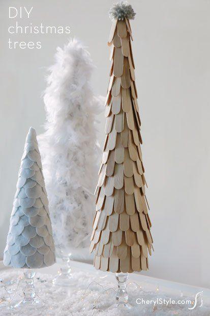 DIY christmas trees centerpiece-decoration-cherylstyle-cheryl-najafi
