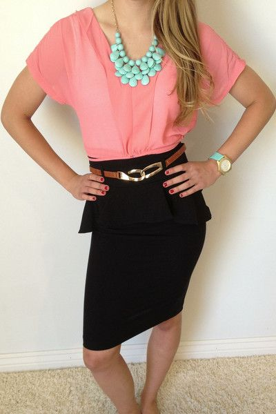 Sunday Church Style Belted Peplum Skirt | Peplum Blouses U0026 Skirts | Pinterest | Church Skirts ...