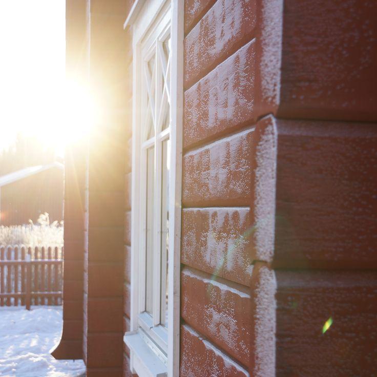 Timberhouse, Log house, Forsgrens Timmerhus, Dalarna, Sweden,winter, xmas