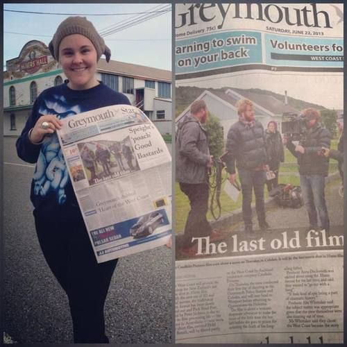 Hold Your Breath on the front page of the Greymouth Star today!