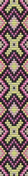 Тканые браслеты из бисера схемы   277 photos   VK