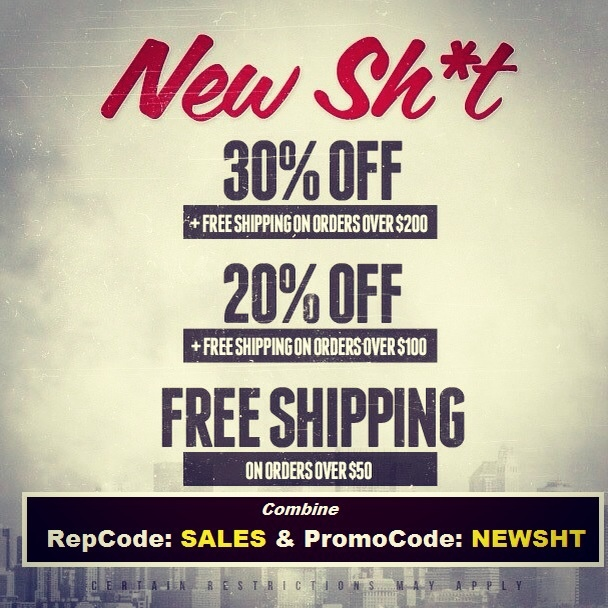 Karmaloop.com's NEW YEAR NEW SH!T  31% Off & Free Shipping On Orders $200 or more  21% Off & Free Shipping On Orders $100 or more  Free Shipping on orders $50 or more  Combine RepCode: SALES & PromoCode: NEWSHT at checkout  For more Karmaloop Codes, visit http://www.Karmaloop-Codes.com #karmaloop #discounts #freeshipping #coupons