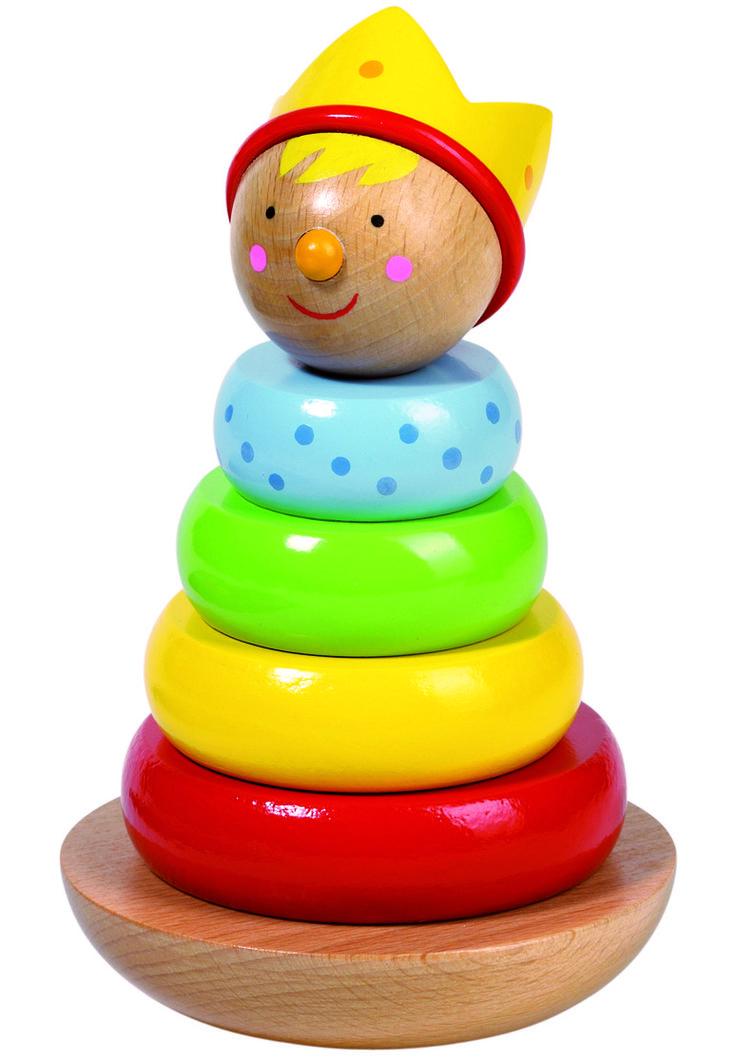 Natural and high quality toys to the development of the skills of children. Stacking little man prince