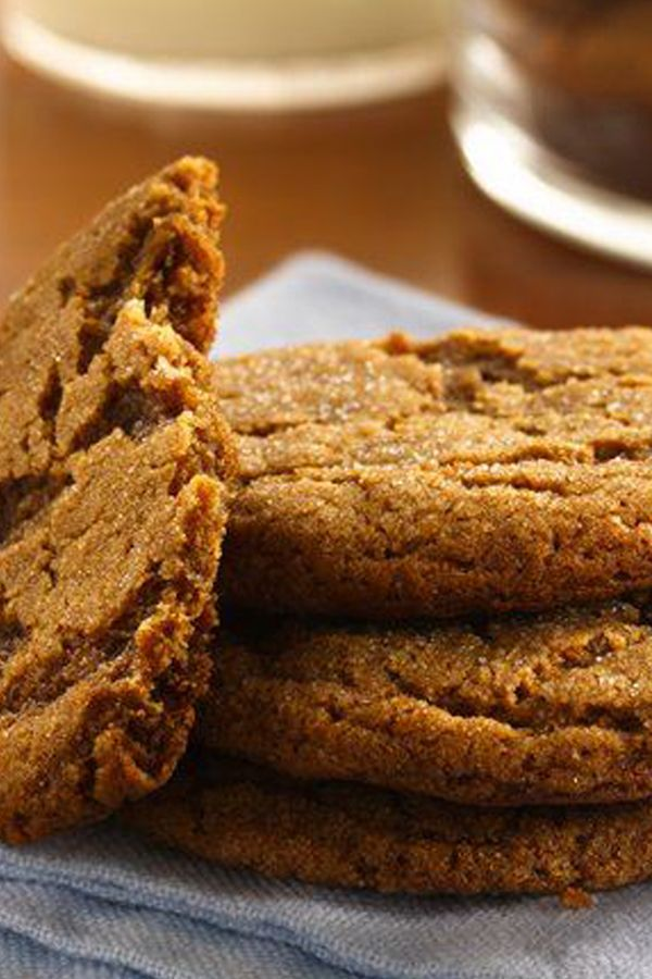 Just add a tall glass of cold milk—these traditional thick and chewy cookies are great as an after-school snack, weeknight dessert or Christmas cookie tray offering. Pro tip: Betty member The_Swedish_Chef has been making these classics for 60 years, and recommends rolling the entire cookie balls in sugar before placing them on the pan.