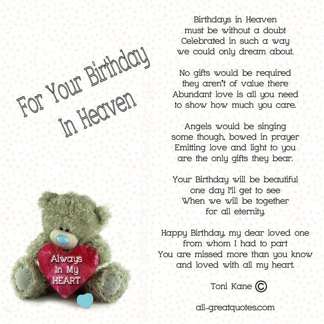 Birthdays In Heaven