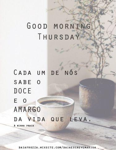 Good Morning Thursday!