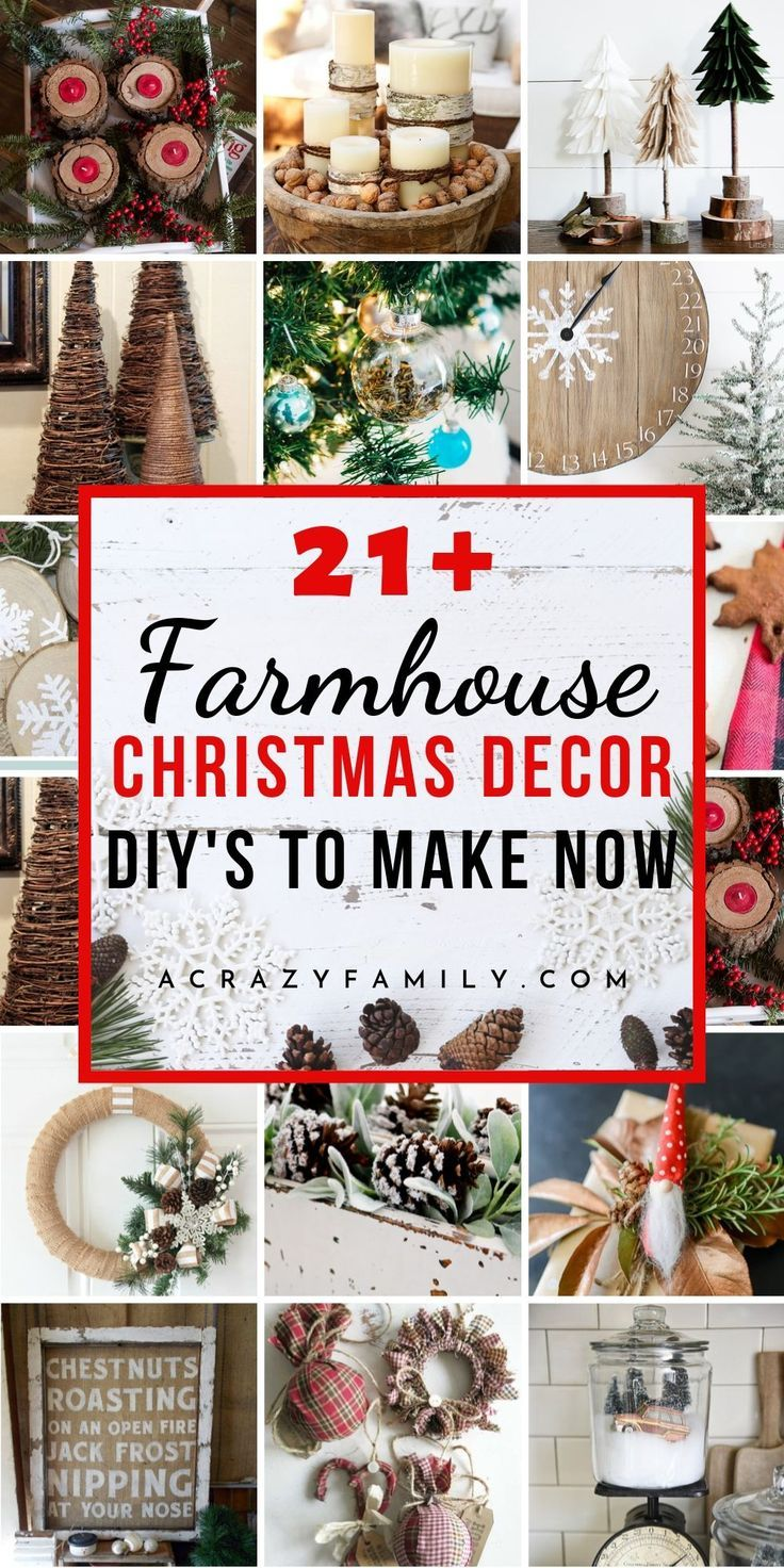 21 Awesome Rustic Farmhouse Christmas Decorations To Diy Christmas Decor Diy Farmhouse Christmas Ornaments Farmhouse Christmas Decor